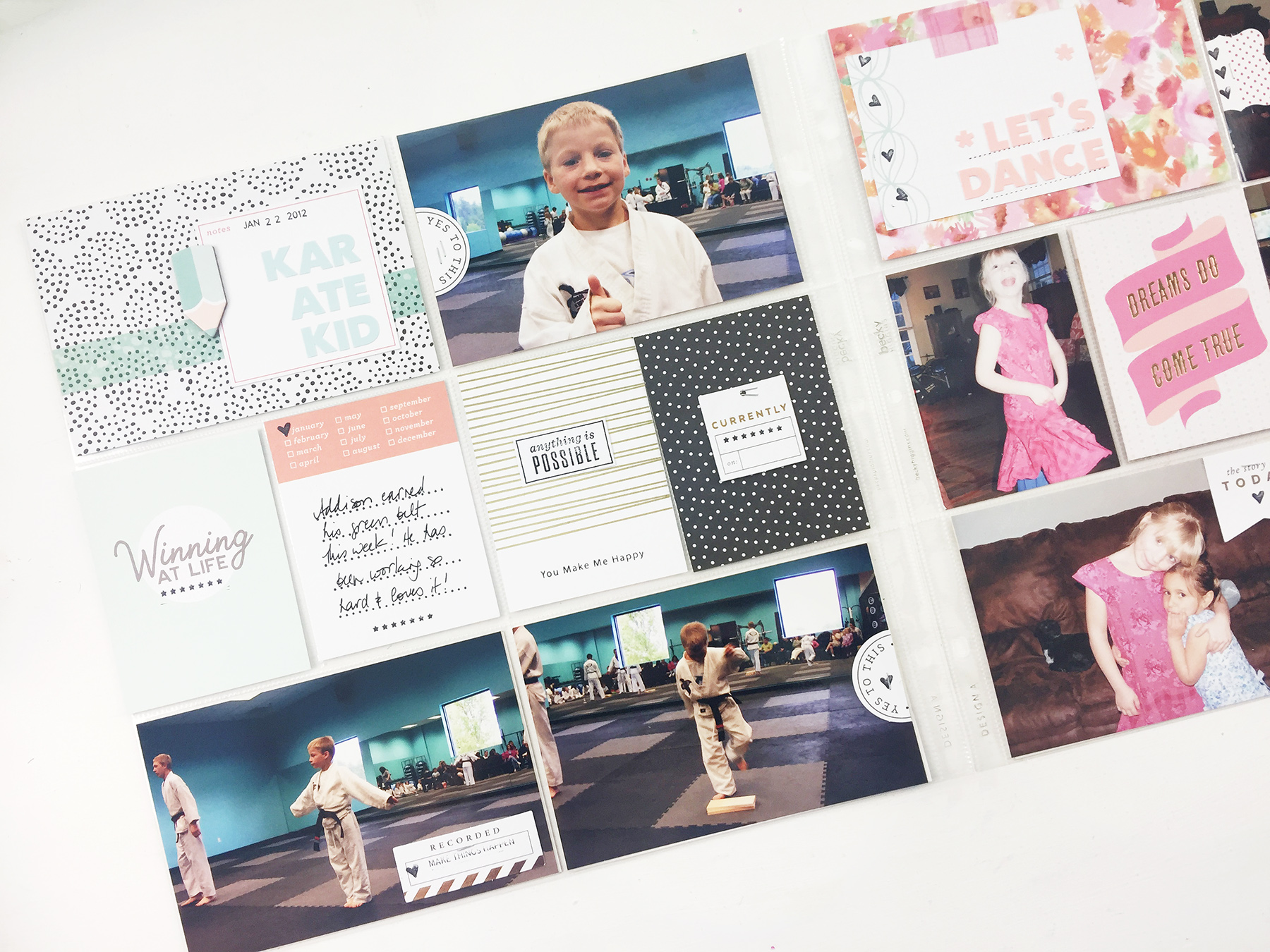 An Event Based Project Life Layout | January 2012 Using Studio Calico Documenter Kit!!